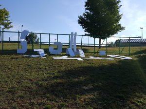 DESTROYED GRISWOLD PARK SIGN