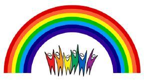 lgbt rainbow logo for website